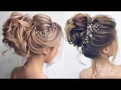 Romantic Wedding UPDOS for Long Hair Tutorial Compilation 2018 - YouTube