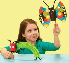 Caterpillar and butterfly craft! Perfect for preschoolers this spring!