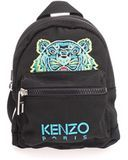 Kenzo backpack with multicolor tiger made of black fabric and light blue logo. Zip closureFront pocket closed by zipInternal pocket with zipPadded shoulder strapsDimensions: 40 x 30 x 11 cm Canvas Backpack, Black Backpack, Black Fabric, Kenzo, Fashion Backpack, Light Blue, Man Shop, Backpacks, Mini