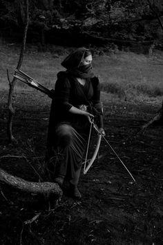 black & white archer