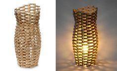 lamp made of humble clothespins