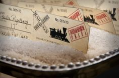 cute idea  Table assignments disguised as train tickets? LOVE    http://www.simpsonstudios.net