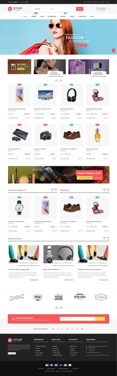 Download Styler Mega Shop 4 in 1 Responsive #Magento Theme for Stunning eCommerce Website #fashion #shop