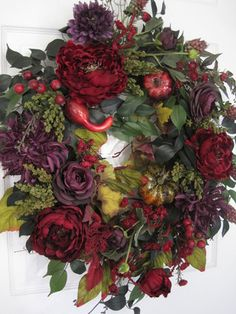 Wreath that could be designed for fall through Christmas season.