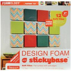 Design Foam 12 inch x 12 inch x 1 inch 12pk, White FOB:MI