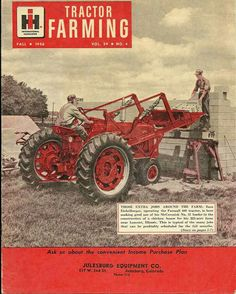 FARMALL 400 on the front of an 1956 IH Tractor Farming Ad