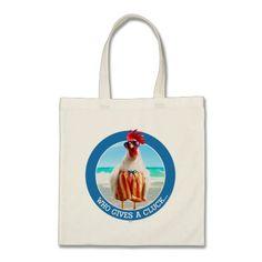 Avanti Press - Rooster Dude Chillin' at Beach in Swim Trunks. Regalos, Gifts. #bolso #bag