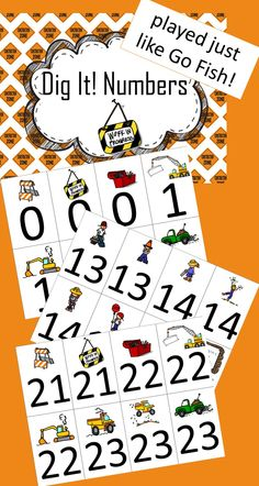 $Number Dig It is a great way to practice number recognition!  It's played similar to Go Fish, which makes the game easy for children to play.  There are 3 cards for each number 0-30.