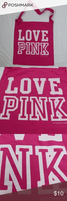 Victoria's Secret PINK Reusable Tote Bag Victoria's Secret VS PINK Love Pink Reusable Tote Bag Spell Out Logo  A few marks on the front. See pictures.  It measures 16.5 inches x 18.5 inches. PINK Victoria's Secret Bags Totes