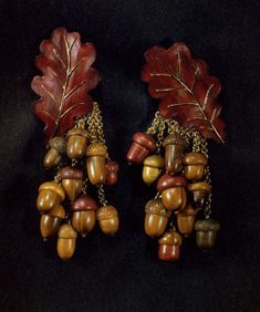 JAR(joel a. rosenthal), oak leaf and acorn earrings http://www.theenglishroom.biz/2013/12/21/jewels-by-jar/