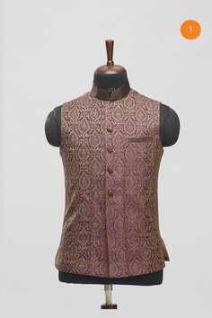 Adorn your kurta pajama with a jacket. Manyavar brings you a range of Modi jackets & Nehru jackets online which give your traditional attire a royal look. Marriage Dress, Nehru Jackets, Dark Brown, Vest, Suits, Dresses, Fashion, Dress Wedding, Vestidos