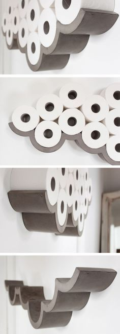 bathroom decoration on a budget Awesome Products: Cloud concrete toilet roll holder Concrete cloud shaped toilet paper holder. Like a cloud! Diy Bathroom Decor, Bathroom Storage, Diy Home Decor, Bathroom Ideas, Bathroom Art, Bathroom Interior, Bathroom Designs, Bathroom Cabinets, Decorating Bathrooms
