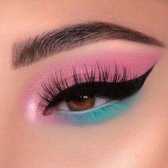 ▷ MAQUILLAJE BASICO: Lo que debes de utilizar Edgy Makeup, Makeup Eye Looks, Beautiful Eye Makeup, Eye Makeup Art, Colorful Eye Makeup, Crazy Makeup, Cute Makeup, Makeup Inspo, Eyeshadow Makeup