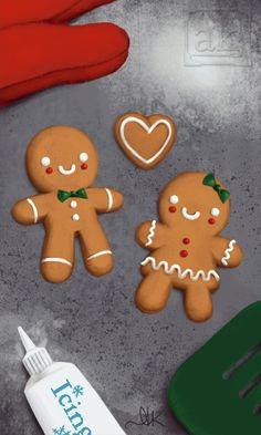 Cute gingerbread men