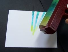 Splitcoaststampers - Bouncing Brayer Technique Tutorial by Charmaine Ikach
