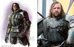 Game of Thrones Characters: In the Books vs. On the Show -Sandor Clegane aka The Hound