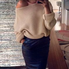 Sexy Pullovers White Sweater Women Autumn Winter Retro Batwing Sleeve Gray Jumper Elegant Loose Off Shoulder Sweaters Pull Femme