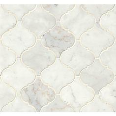 3 Brisk Tips AND Tricks: Wallpaper Backsplash Contact Paper arabesque backsplash back splashes.Copper Backsplash Farm House mosaic backsplash with white cabinets.Herringbone Backsplash Home Depot. Marble Mosaic, Mosaic Tiles, Wall Tiles, Honed Marble, Tiling, Arabesque Tile Backsplash, Calacatta Oro, Marble Floor, Mosaic Tile Sheets
