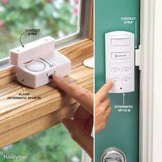 Add Inexpensive Door and Window Alarms Security Home Security Tips, Wireless Home Security Systems, Security Alarm, Safety And Security, Security Camera, House Security, Security Service, Security Surveillance, Video Security