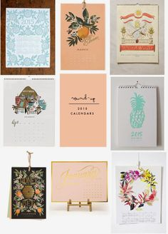 Poppytalk: Round-Up 2015 Calendars