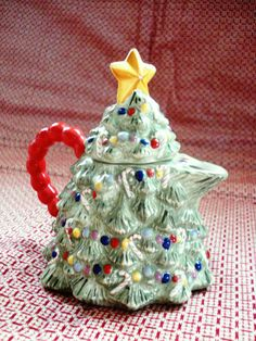 Traditions Christmas Tree Mini Teapot  Holiday by 4bettern4worse