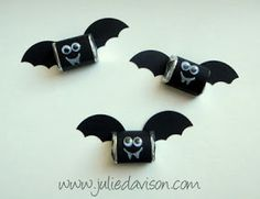 Julie's Stamping Spot -- Stampin' Up! Project Ideas by Julie Davison: VIDEO: Halloween Chocolate Nugget Bat
