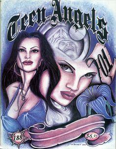 teen angels - chicano art