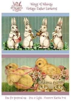 Wings rozmar: hobby Ročník Velikonoční lucerny - zdarma pro osobní použití #vintage #ephemera #printable #freebie #easter Kopi