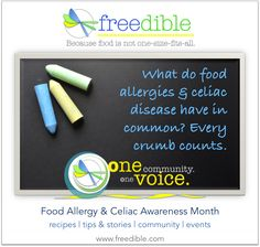 News Flash: less than a crumb can cause serious harm to folks with #foodallergy AND #celiac disease. Find #customeater community, tips & recipes on freedible!