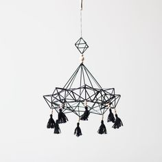 Items similar to himmeli no. 9 - hanging mobile - modern mobile - sculpture - geometric - black - finnish design - home decor on Etsy