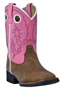 Laredo Children's Pink Stitched Cowgirl Boots - Sheplers