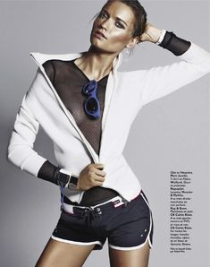 visual optimism; fashion editorials, shows, campaigns & more!: sporty sexy: laura blokhina by david roemer for grazia france no.146 5th july 2012