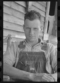 """Farmer during the Great Depression 1935 Photograph: Walker Evans """" Walker Evans, Grapes Of Wrath, Working People, Working Men, Working Class, Great Depression, Vintage Denim, Men's Vintage, Vintage Wear"""