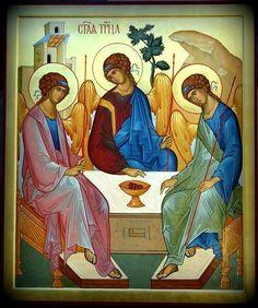 Trinidad, Roman Church, Byzantine Icons, Orthodox Icons, Sacred Art, Christian Art, Christianity, Catholic, Religion