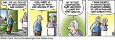 Creator Brian Crane's daily comic strip Pickles is about an older couple that is finding out retirement life isn't all it's cracked up to be. Pickles, The Lockhorns, Older Couples, Guilt Trips, Non Sequitur, You Mad, Fun Comics, Calvin And Hobbes, Life Humor