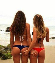 Quality lesbians in bikini bums