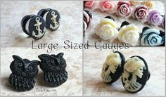 Large Gauge Plugs 7/16 inch 1/2 inch Available for any by Zaisy, $29.99