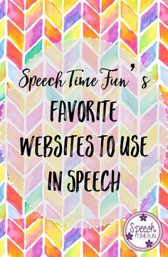 Speech Time Fun's Favorite Websites to use in Speech