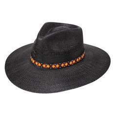 2a47a7a4f819e Charlie 1 Horse Women s Straw Hat - Beach Babe - Black