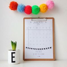 Elske: january - printable calendar