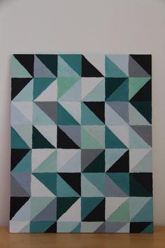 Geometric pattern on canvas