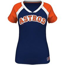 Houston Astros Women's Forged Classic Synthetic Fashion Top