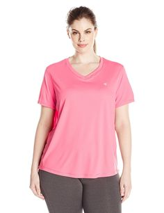 Champion Women's Plus Size Vapor Select Tee with FreshIQ * More info could be found at the image url.