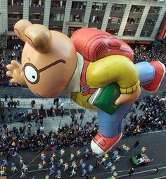 Bookish Balloons from the Macy's Thanksgiving Day Parade - Arthur