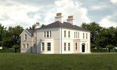 Architect House, Architect Design, Two Storey House Plans, England Houses, Georgian Homes, Exterior Design, Exterior Paint, House Extensions, House Front