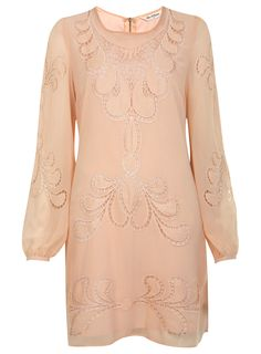 Vintage style  Pale pink cut work dress  £60.00  Miss Selfridge
