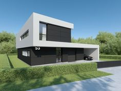 Individual modern Architectural design and concepts. Good House, Small Houses, Modern House Design, Architecture Design, House Plans, House Ideas, Villa, Exterior, Mansions