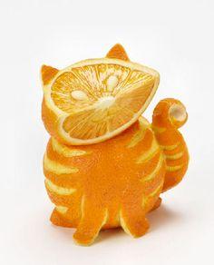 Home Grown Veggie Animal Figurine - Orange Tabby Cat