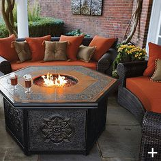 love this idea for the backyard- a comfy fire pit area