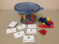 Solving for the Missing Addend Fun Math Activities, Math Resources, Educational Activities, Math Addition, Addition And Subtraction, Teaching Math, Maths, Teaching Ideas, Cooperative Education